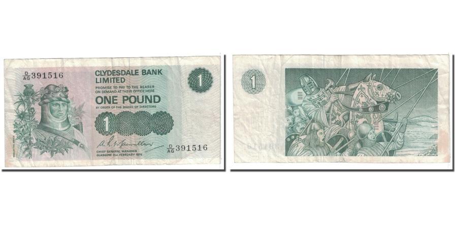 World Coins - Banknote, Scotland, 1 Pound, 1976, 1976-02-02, KM:204c, VF(20-25)