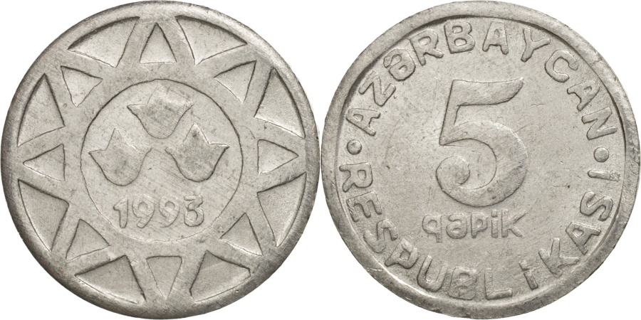 World Coins - Azerbaijan, 5 Qapik, 1993, , Aluminum, KM:1a