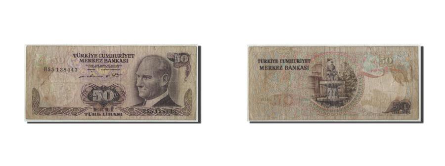 World Coins - Turkey, 50 Lira, L.1970 (1976), KM:188, VG(8-10)