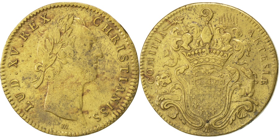 World Coins - France, Royal, Token, , Brass, 29, 8.70