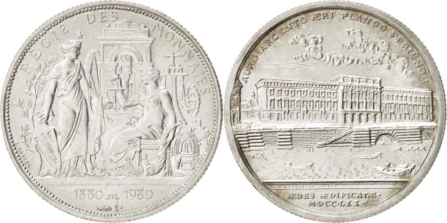 World Coins - France, Régie des monnaies, History, Medal, 1980, , Silver, 21mm