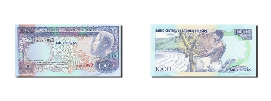 World Coins - Saint Thomas and Prince, 1000 Dobras, 1993, KM #64, 1993-08-26, UNC(63), BA...