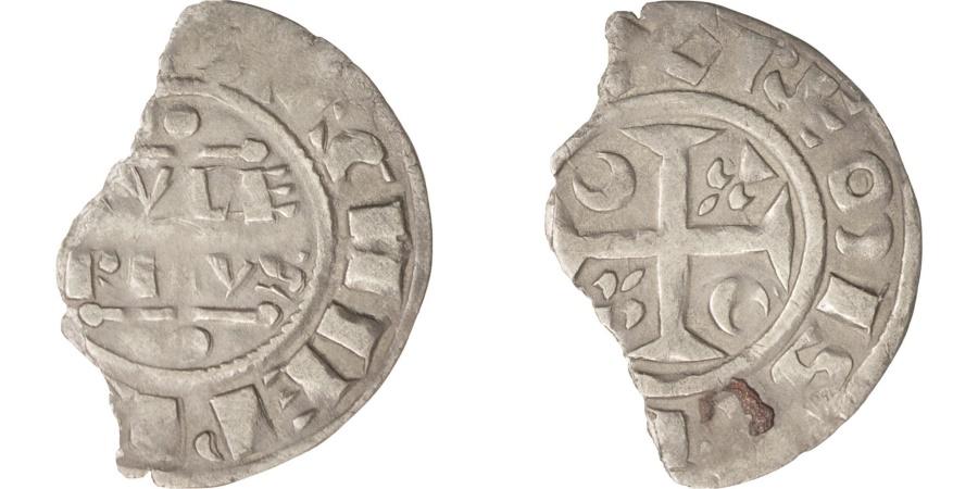 World Coins - France, Champagne, Guillaume I (1176-1202), Denier, Reims, , Silver