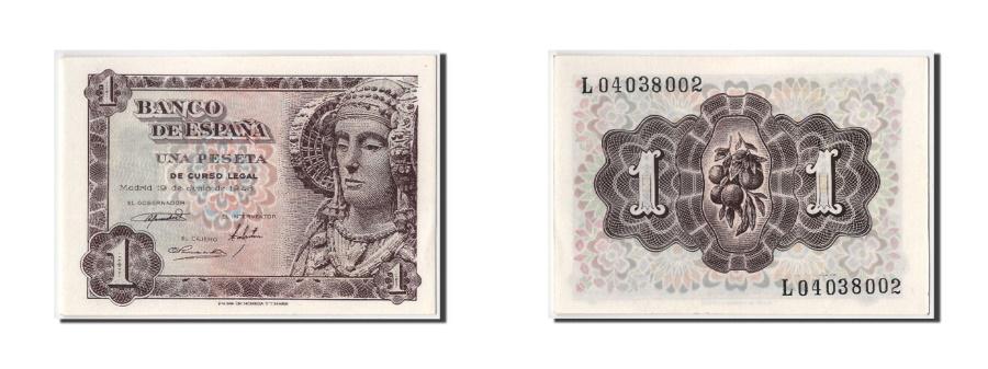 World Coins - Spain, 1 Peseta, 1948, 1948-06-19, UNC(65-70)