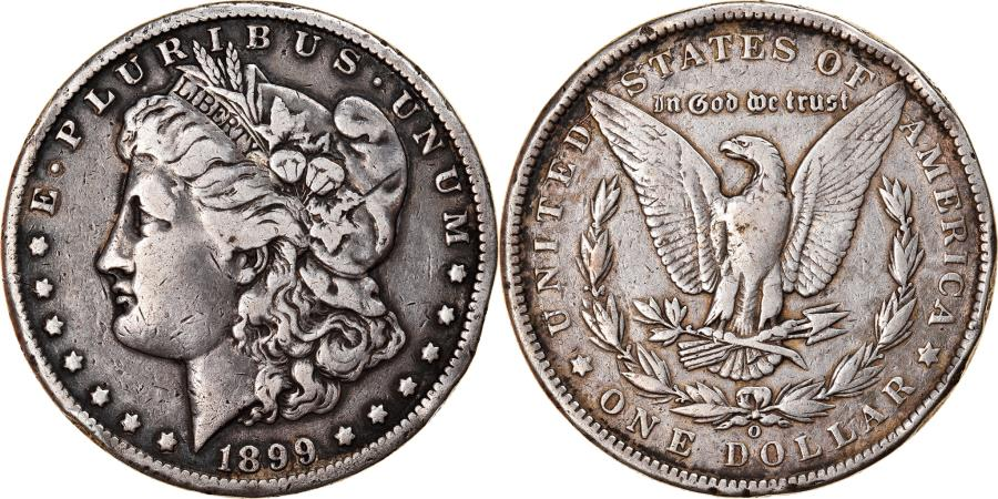 US Coins - Coin, United States, Morgan Dollar, Dollar, 1899, U.S. Mint, New Orleans