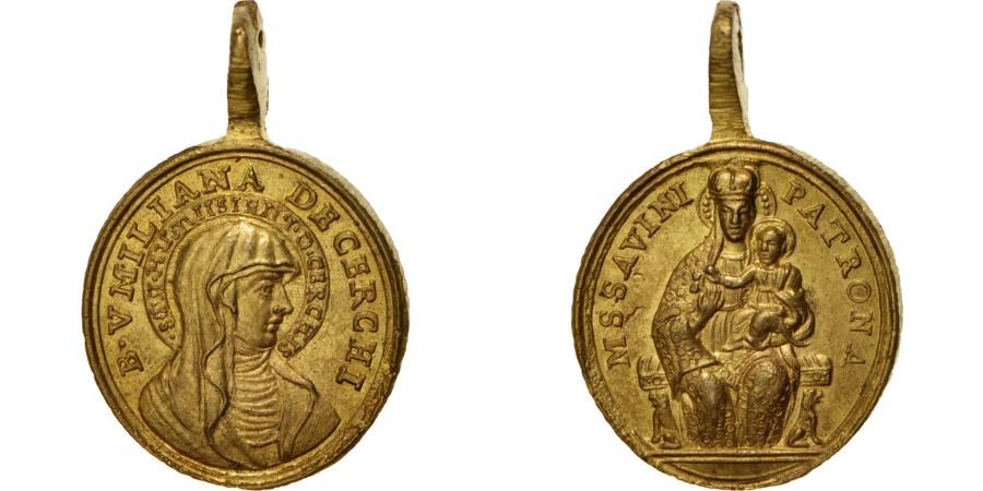 World Coins - Italy, Religions & beliefs, Medal, XVIII century, , Brass, 21x32mm