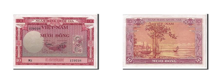 World Coins - South Viet Nam, 10 Dng, 1955, KM #3a, UNC(63), 179728