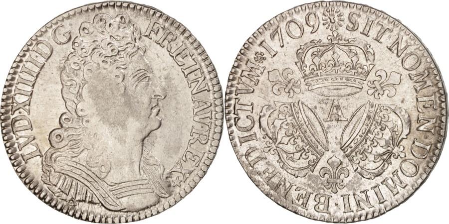 World Coins - France, Louis XIV, 1/2 Écu aux 3 couronnes, 1709, Paris, , KM:382.1