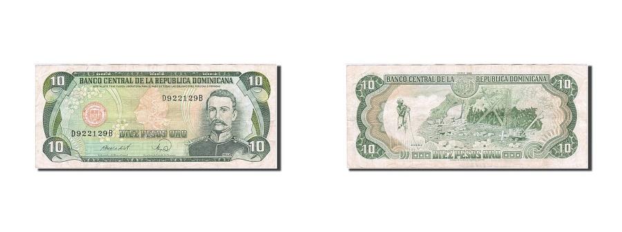 World Coins - Dominican Republic, 10 Pesos Oro, 1990, KM:132, AU(50-53)