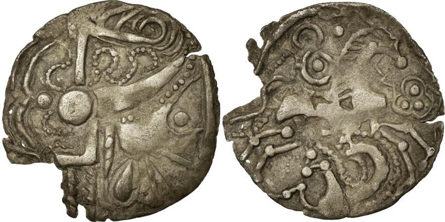 Ancient Coins - Coin, Ambiani, Denarius, Unpublished, , Silver, Delestrée:manque.