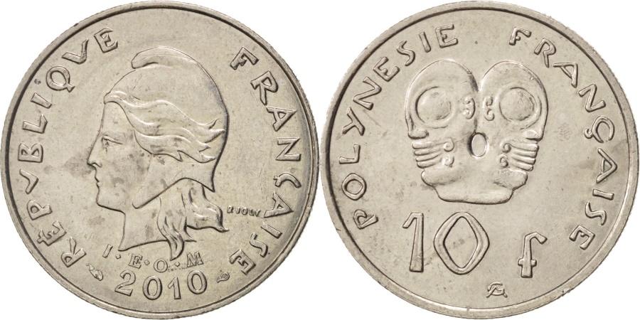 World Coins - French Polynesia, 10 Francs, 2010, Paris, , Copper-nickel, KM:8a