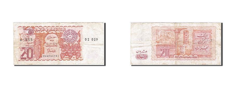World Coins - Algeria, 20 Dinars, 1982-1983, KM:133a, 1983-01-02, VF(30-35)