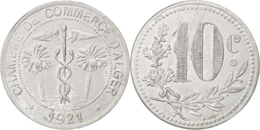 World Coins - Algeria, 10 Centimes, 1921, , Aluminium, Elie #10.17b, 1.77