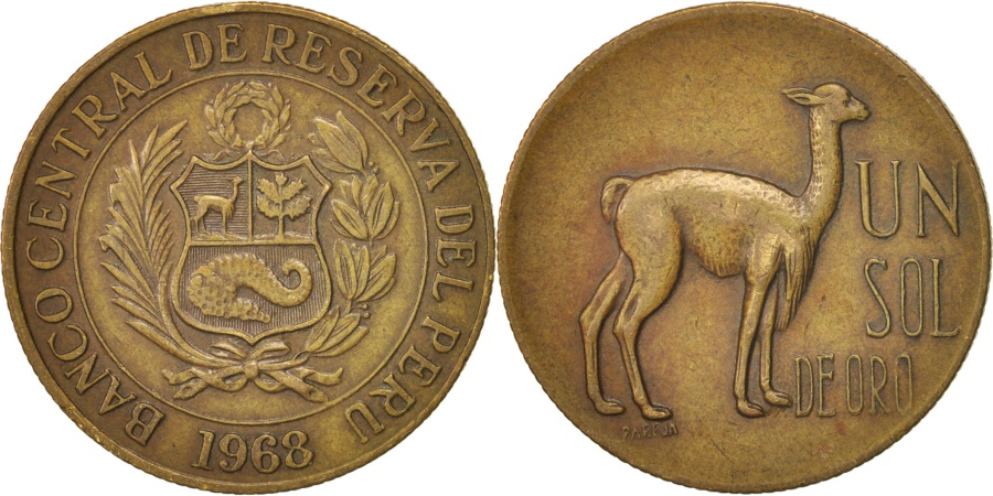 World Coins - Peru, Sol, 1968, Lima, , Brass, KM:248