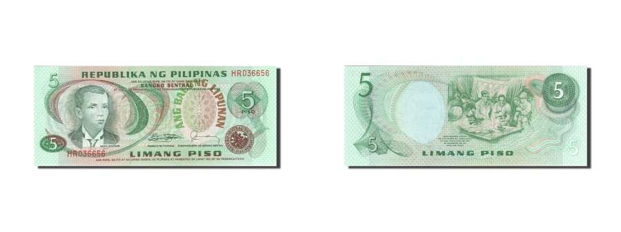 World Coins - Philippines, 5 Piso, 1978, KM:160d, UNC(65-70)