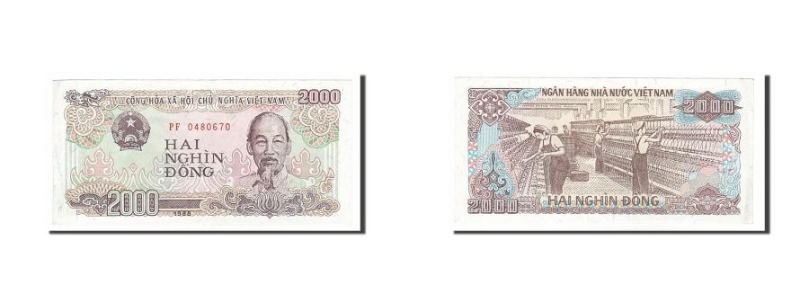 World Coins - Viet Nam, 2000 Dng, 1988, KM #107a, AU(50-53), PF0480670