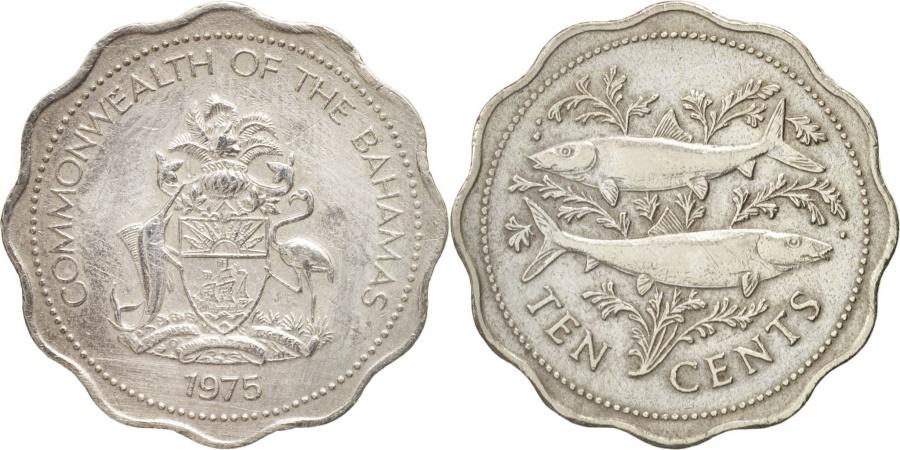 World Coins - Bahamas, Elizabeth II, 10 Cents, 1975, Franklin Mint, , Copper-nickel