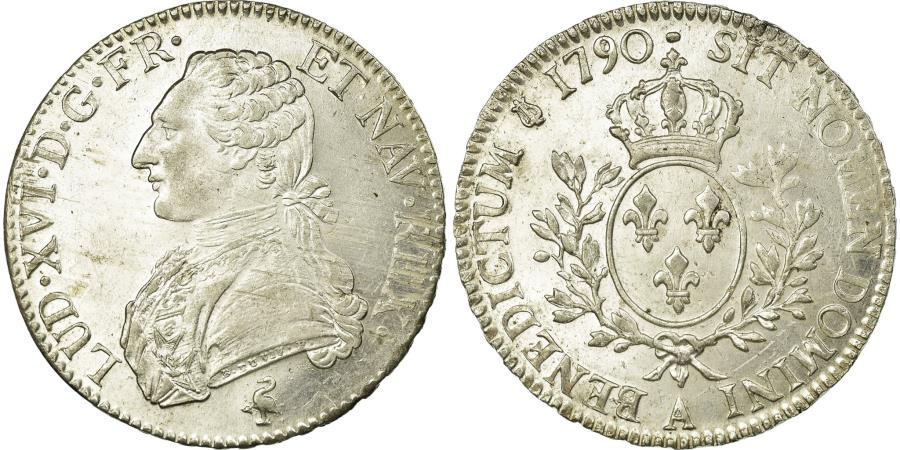 World Coins - Coin, France, Louis XVI, Écu aux branches d'olivier, Ecu, 1790, Paris
