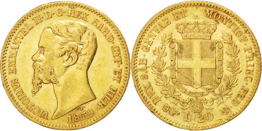Italian states 20 lire 1859 torino km 146 1 ef 40 45 for Coin torino