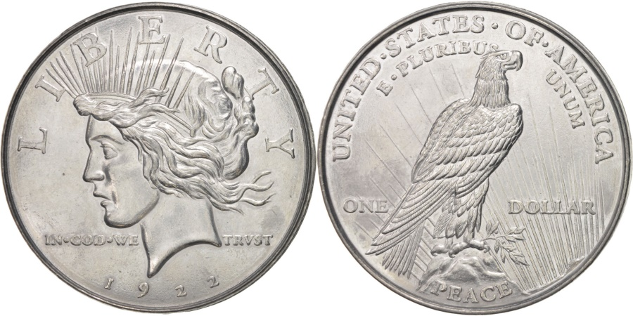 US Coins - United States, Peace dollar, History, Medal, , Tin, 77