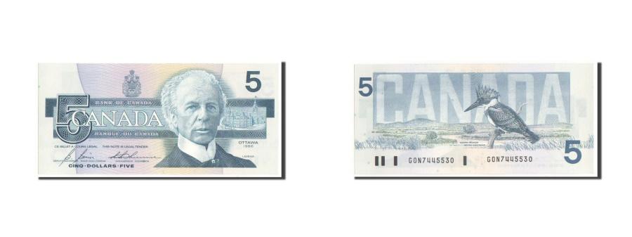 World Coins - Canada, 5 Dollars, 1986, KM #95c, UNC(65-70), GON 7445530