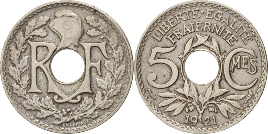 World Coins - France, Lindauer, 5 Centimes, 1921, , Copper-nickel, KM:875