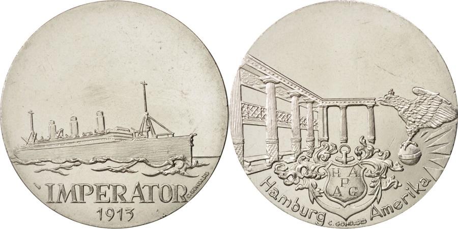 World Coins - France, Medal, Les Grands Transatlantiques, Imperator