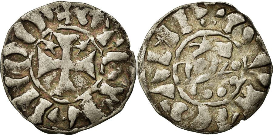 World Coins - Coin, FRENCH STATES, Denarius, Guingamp, EF(40-45), Silver, Boudeau:144