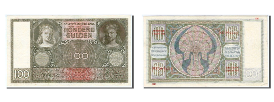 World Coins - Netherlands, 100 Gulden, 1944, KM #51c, UNC(60-62), KE