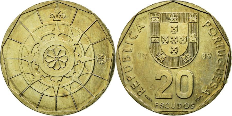 World Coins - Coin, Portugal, 20 Escudos, 1989, Lisbon, , Copper-nickel, KM:634.1