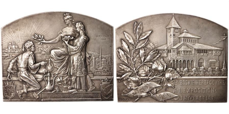 World Coins - France, Medal, Exposition Universelle de Paris, Paris recevant la Bosnie