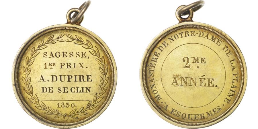 World Coins - FRANCE, Religions & beliefs, Louis Philippe I, Medal, , Vermeil, 42,...