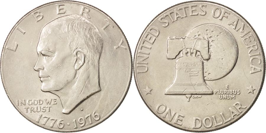 US Coins - United States, Eisenhower Dollar, 1976, Denver, AU, KM:203