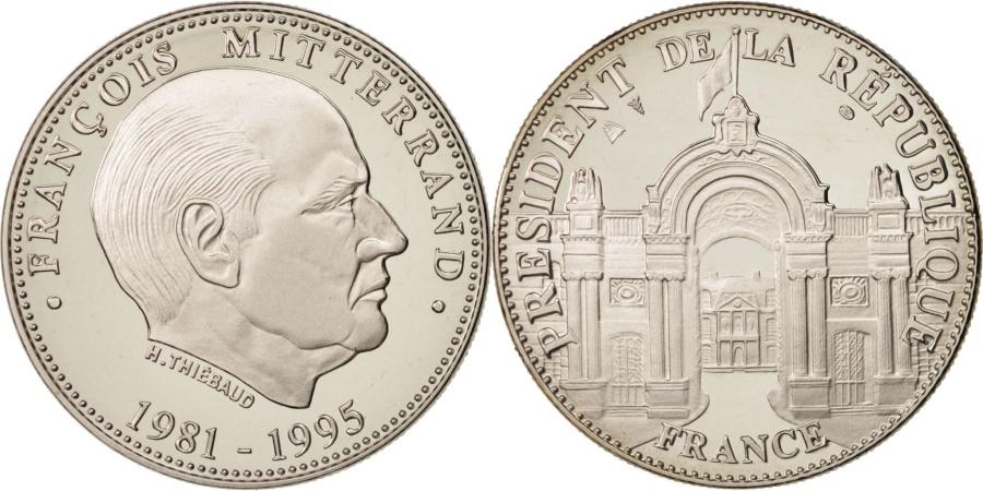 World Coins - France, Medal, Les Présidents de la République, François Mitterrand, French