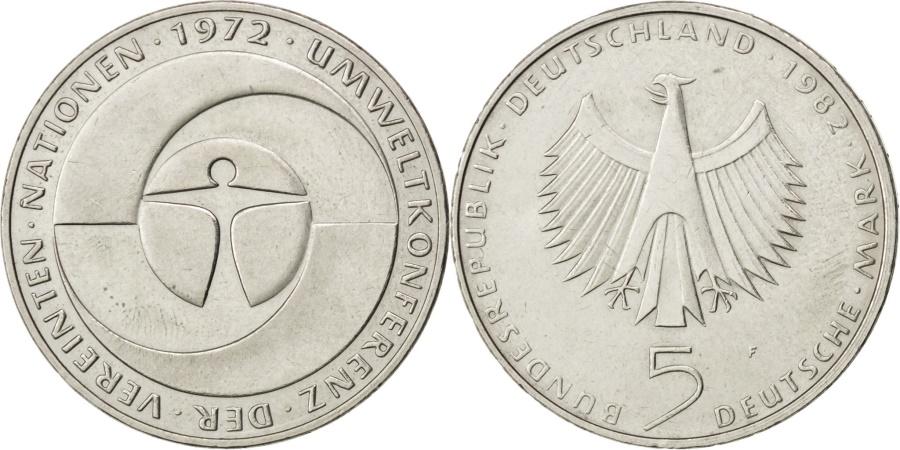 World Coins - GERMANY - FEDERAL REPUBLIC, 5 Mark, 1982, Stuttgart, KM #157, ,...