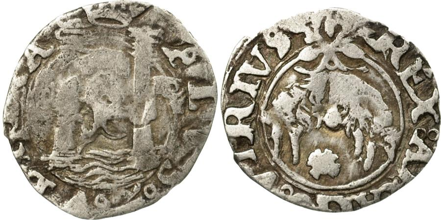 World Coins - Coin, Spain, Charles I, V (5) Grani, Cinquina, Naples, , Silver