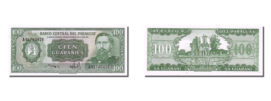 World Coins - Paraguay, 100 Guaraníes, 1952, KM #198a, UNC(65-70), A91780416