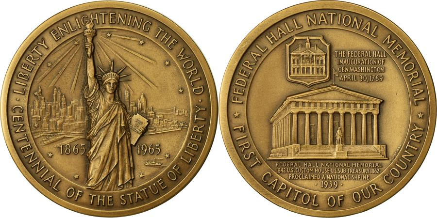 US Coins - United States of America, Medal, Centenaire de la Statue de la Liberté, 1965