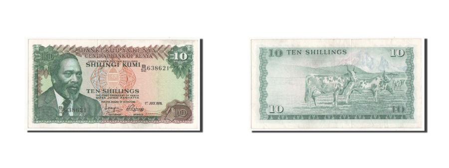 World Coins - Kenya, 10 Shillings, 1976, KM #12b, UNC(63), B/52 638621