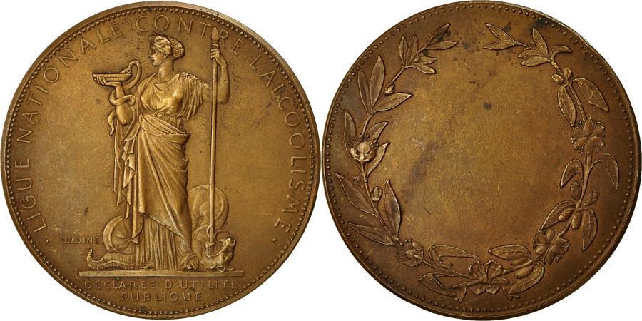 World Coins - France, Medal, Ligue Nationale contre l'Alcoolisme, Oudiné, , Bronze