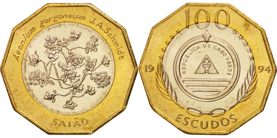 World Coins - Cape Verde, 100 Escudos, 1994, , Bi-Metallic, KM:40a