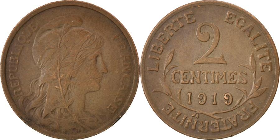 World Coins - FRANCE, Dupuis, 2 Centimes, 1919, Paris, KM #841, , Bronze, 20.2,...