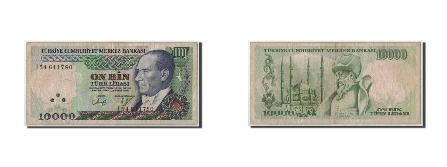 World Coins - Turkey, 10,000 Lira, L.1970 (1989), 1970-01-14, KM:200, VF(20-25)