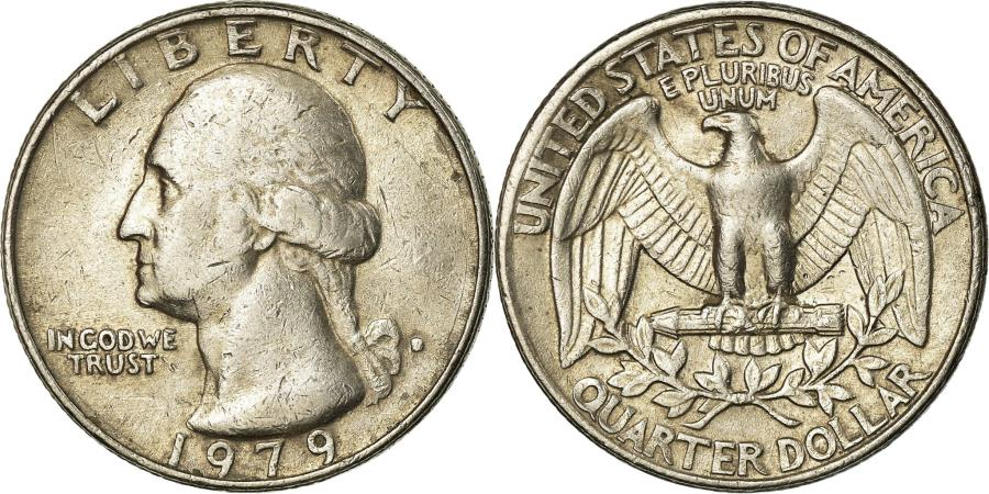 US Coins - Coin, United States, Washington Quarter, Quarter, 1979, U.S. Mint, Denver