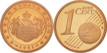 World Coins - Monaco, Euro Cent, PROOF 2005, MS(65-70), Copper Plated Steel, KM:167