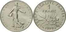 World Coins - France, Semeuse, Franc, 1999, Paris, MS(63), Nickel, KM:925.1, Gadoury:474