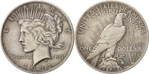 Us Coins - United States, Peace Dollar, 1922, Philadelphia, EF(40-45), KM:150
