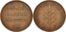 Palestine, 2 Mils, 1941, EF(40-45), Bronze, KM:2