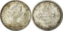 World Coins - Canada, Elizabeth II, Dollar, 1966, Royal Canadian Mint, Ottawa, AU(55-58)