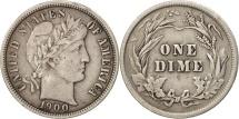 United States, Barber Dime, Dime, 1900, U.S. Mint, Philadelphia, VF(30-35)